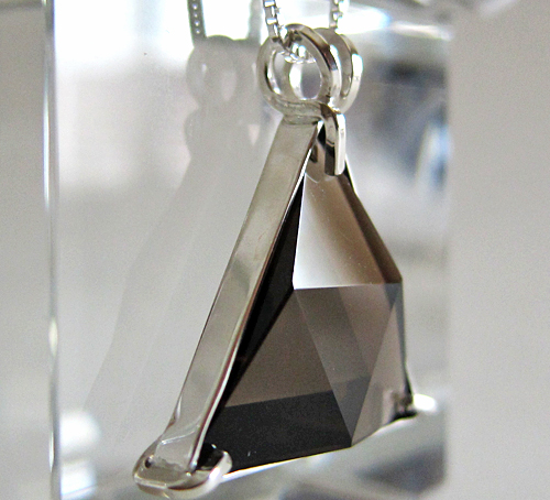 Smoky Quartz Star of David Pendant -- Back Side