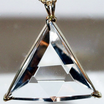 14k Gold Clear Quartz Star of David Pendant