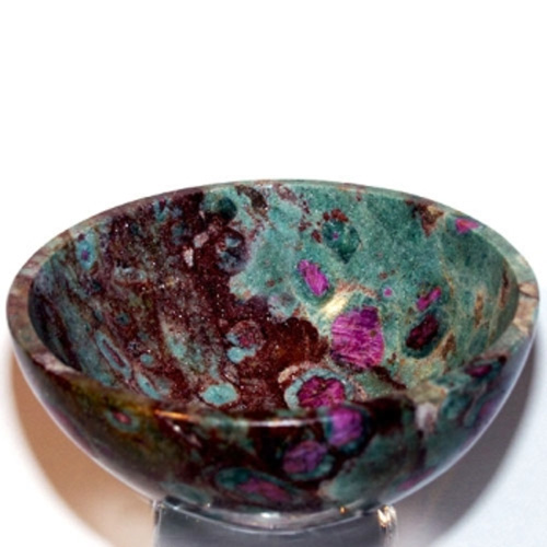 Ruby Zoisite 4 Inch Bowl