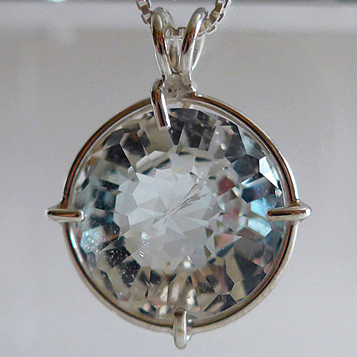 White Topaz Radiant Heart