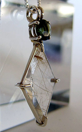 Rutile Ascension Star with Moldavite