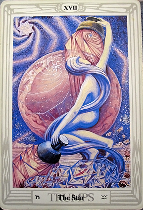 Tarot Trump 17 The Star Sky Goddess Nuit