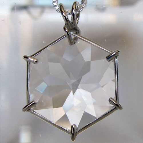quartz flower of life pendant