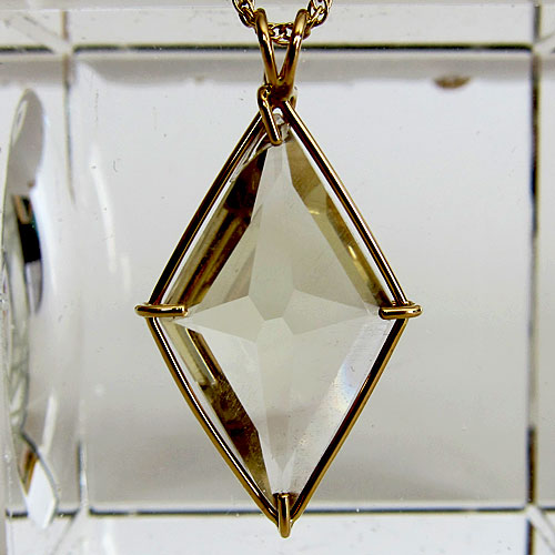 Citrine Ascension Star Pendant in 14 karat Gold Setting