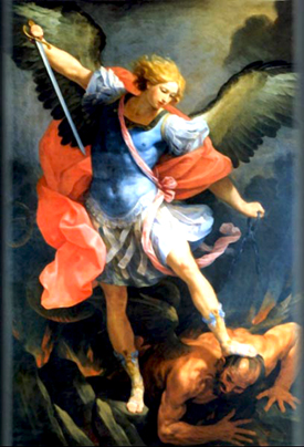 Archangel Michael Vanquishes a Fallen Angel