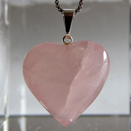 Small Rose Quartz Heart Pendant