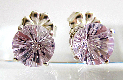 Rose de France Amethyst Super Nova Stud Earrings