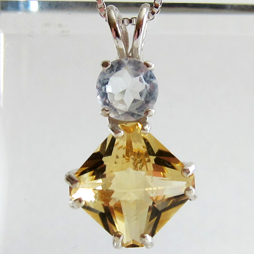 Citrine Mini Magician w/White Topaz Accent Stone