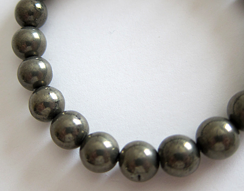 Pyrite Power Bead Bracelet