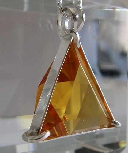 Siberian Gold Quartz Star of David Pendant