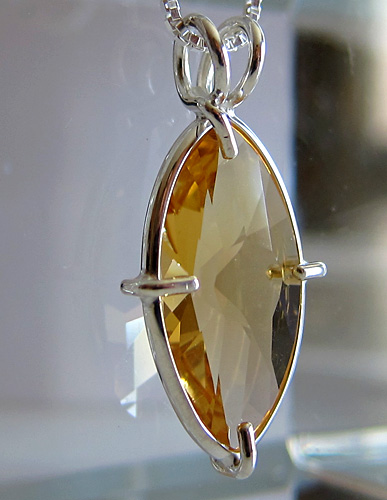 citrine infinite eye pendant
