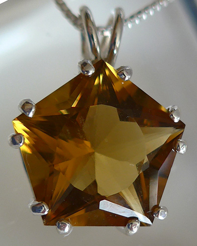 Citrine Quartz Star of Venus