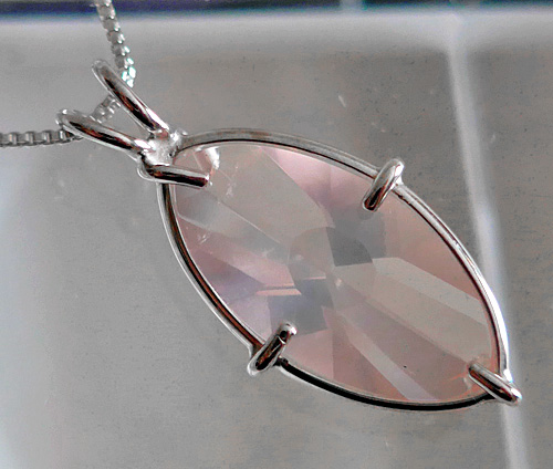 Rose Quartz Infinite Eye Pendant