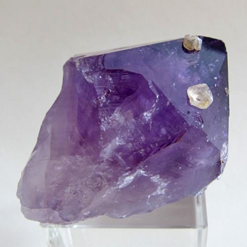 Large Amethyst Point with Calcite Gems