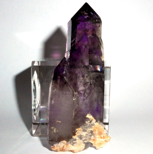 AAA Twin Phantom Madagascar Amethyst Point