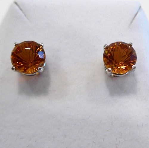 Siberian Gold Super Nova Stud Earrings