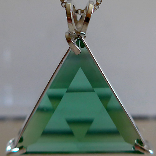 Tibetan Green Star of David Pendant