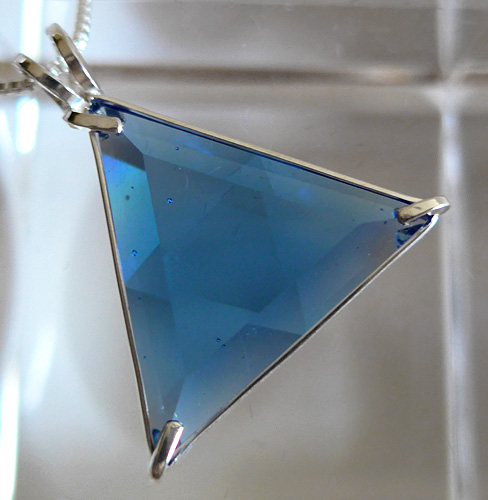 Tibetan Blue Star of David Pendant