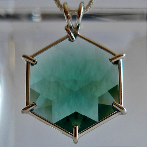 Siberan Green Quartz Flower of Life