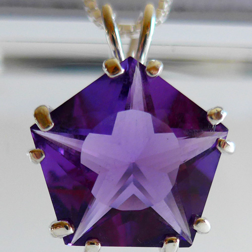 Siberian Purple Quartz Star of Venus