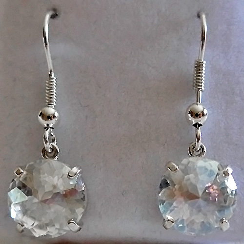 Angel Aura Hanging Radiant Heart Earrings