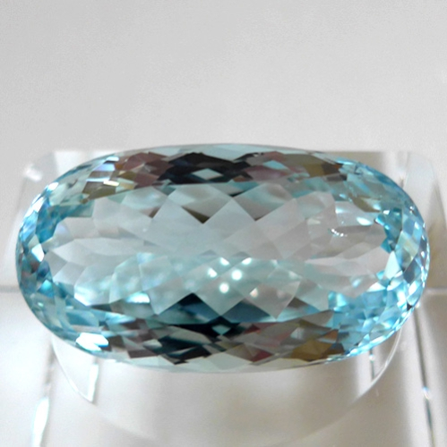 Oval Blue Topaz Gemstone