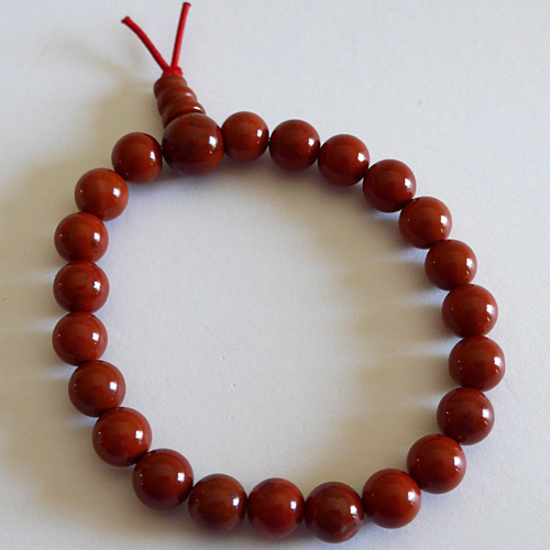 Red Jasper Power Bead Bracelet