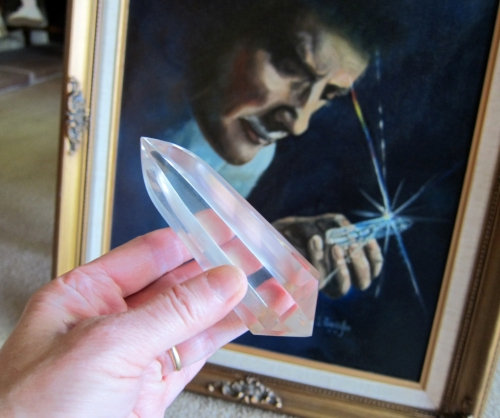 Large Marcel Vogel Water Clear Quartz Triangular Healing Wand