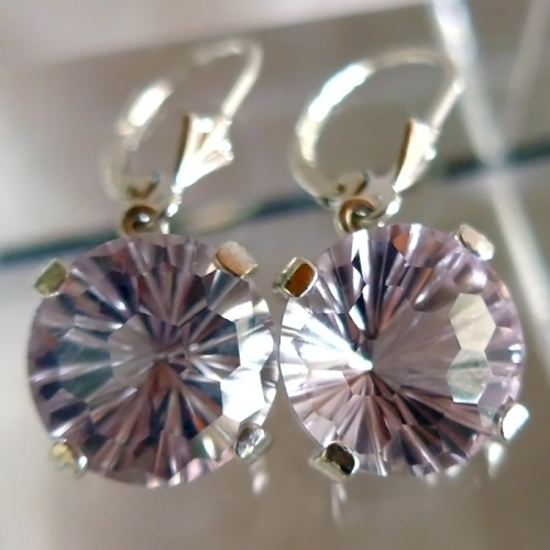 Rose de France Amethyst Super Nova Hanging Earrings