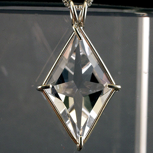 water clear ascension star power cut pendant