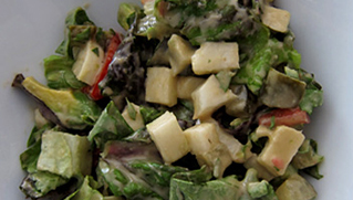 Fall Chopped Salad with Walnut Miso Sherry Vinaigrette