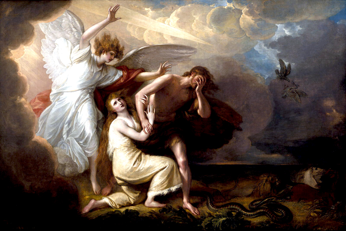 The Expulsion of Adam and Eve from Paradise, Benjamin West (1791)