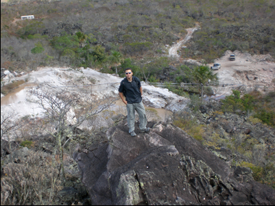 Marlon at the Lemurian Mines in Brazil