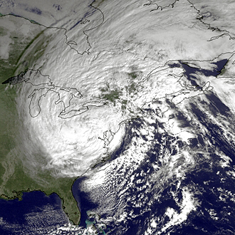 NOAA's Satellite Photo of Super Storm Sandy 11-2012