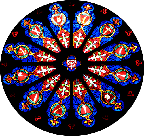 Stained Glass Photo by Jane Sherry From Serbian Orthodox Church in NYC