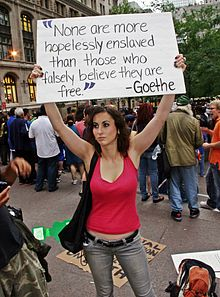 Occupy Wall Street Demonstrator September 2011