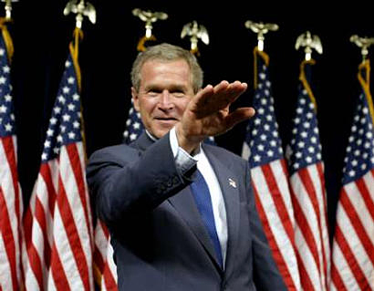 George W. Bush Gives Fascist Salute