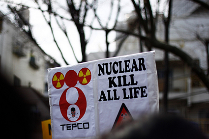 Anti-nuclear protests in Kouenji, Japan. Photo by Matthias Lambrecht.