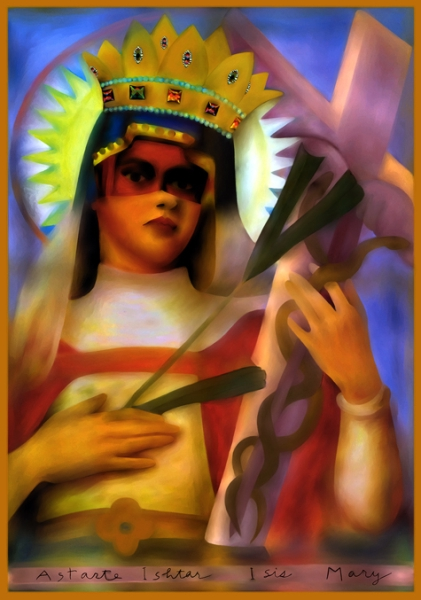 Mixed Madonna, Digital Painting by Jane Sherry