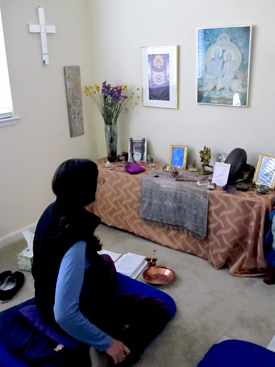 Jane in Our Meditation Room, Antioch, California