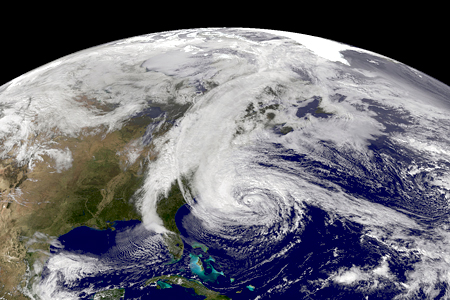 SuperStorm Sandy, courtesy of NASA
