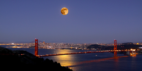 San Francisco Full Moon Courtesy of NASA