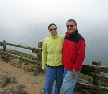 Curtis and Jane near Inverness, California at the Pacific Ocean