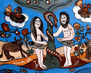 Adam, Eve and the Serpent in the Garden of Eden