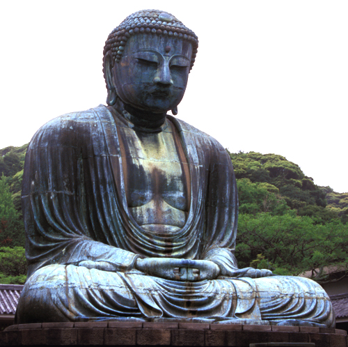 Statue of Buddha, Kamakura, Japan, courtesy Wikimedia, phot in public domain