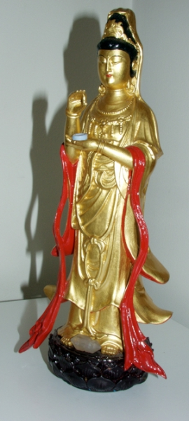 Kwan Yin Statue, Curtis and Jane personal collection, photo by Jane Sherry