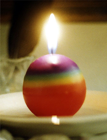 Rainbow Candle photo by Jane Sherry