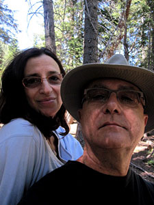 Jane and Curtis in the Redwoods near Santa Cruz, CA