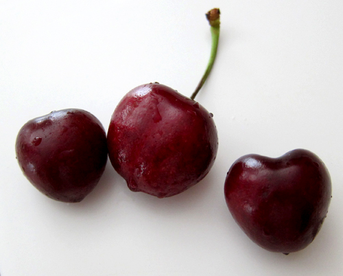 Heart-Shaped Cherries from Diablo Valley Farmer's Market, photo by Jane Sherry