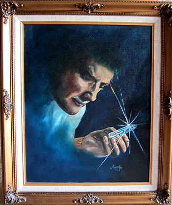 Marcel Vogel with Healing Crystal, Oil Portrait from the Collection of Curtis Lang and Jane Sherry